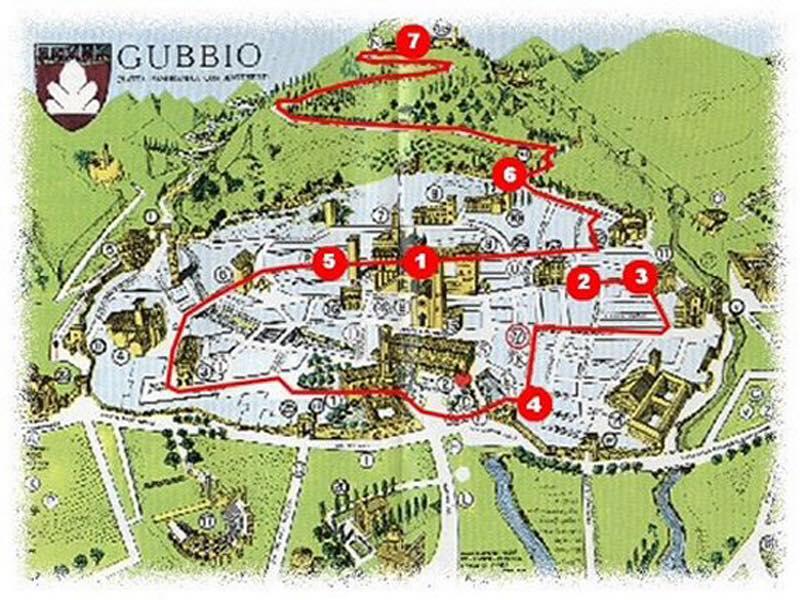 gubbio-parcours